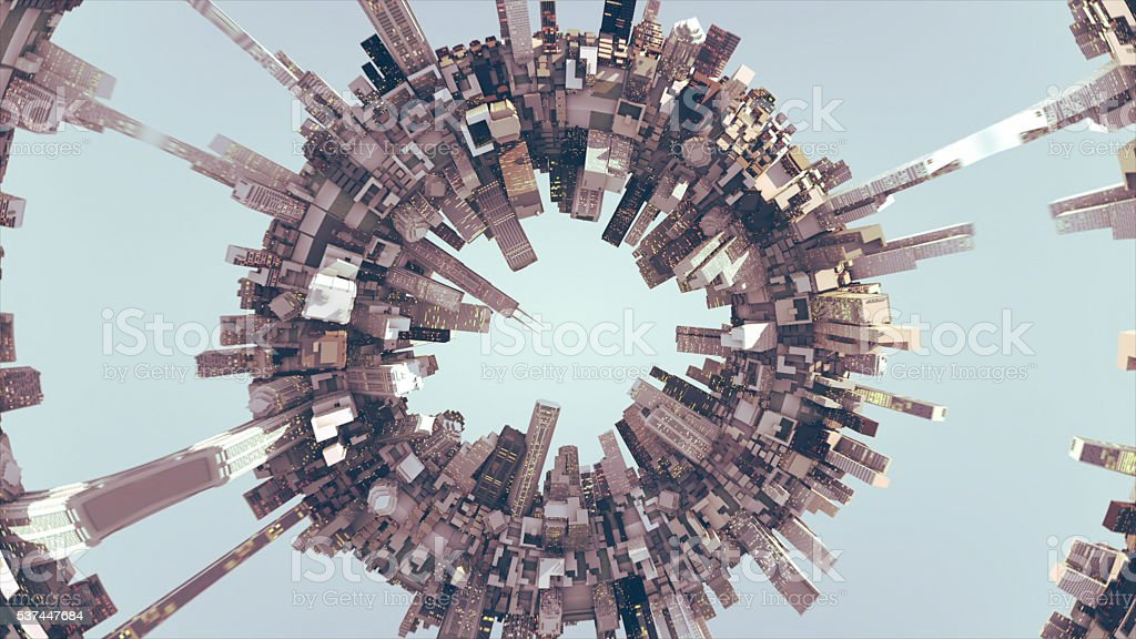 Round City Concept stock photo