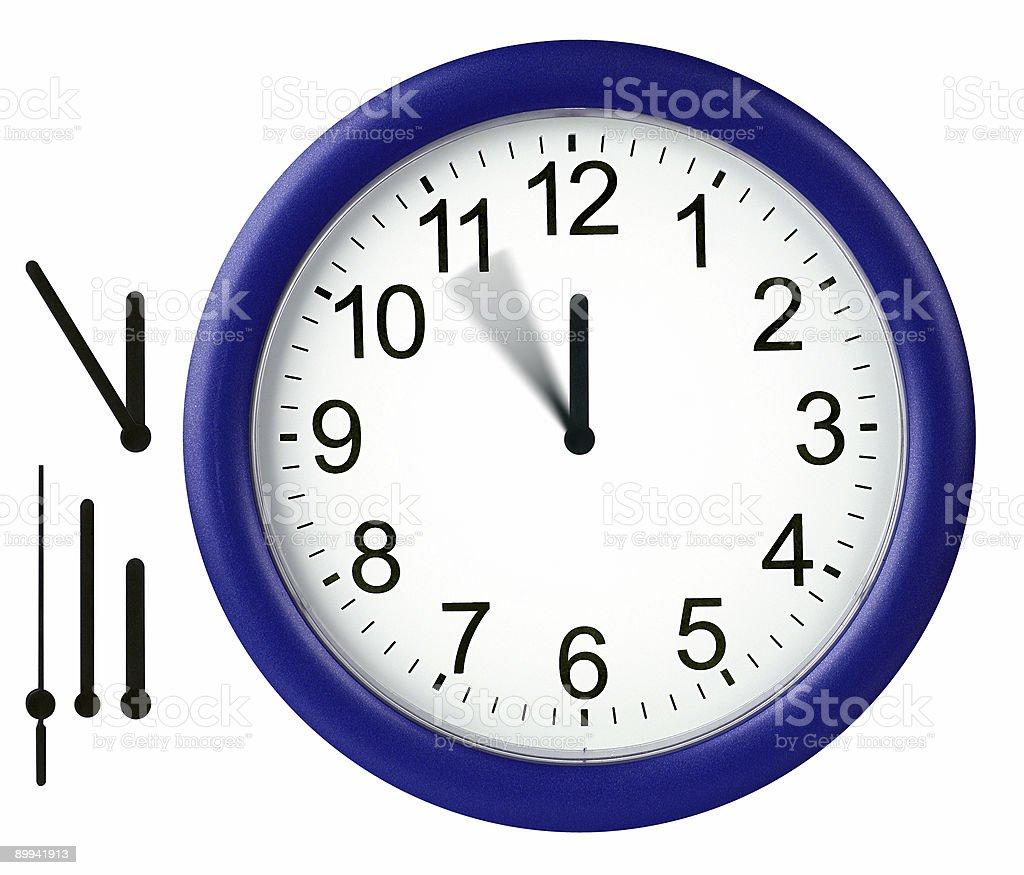 Round clock isolated royalty-free stock photo
