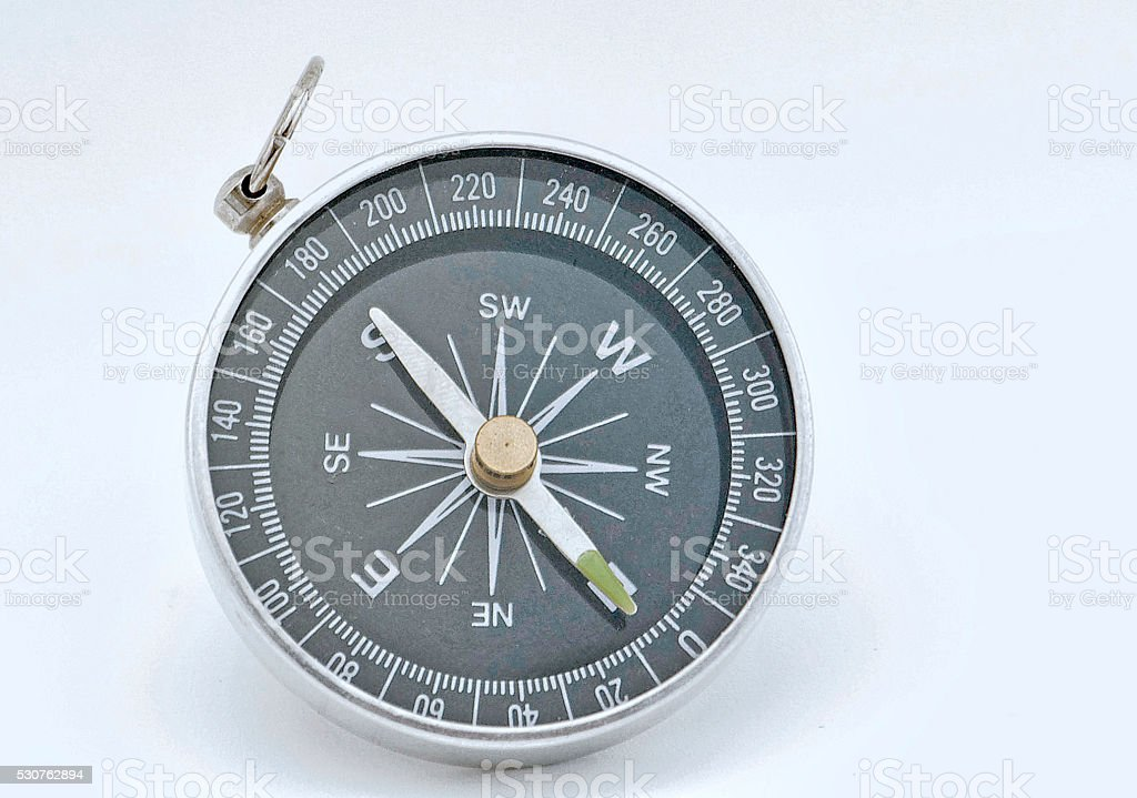 Round Compass for highlighting stock photo