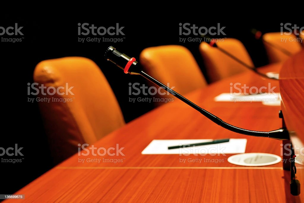 round conference table royalty-free stock photo