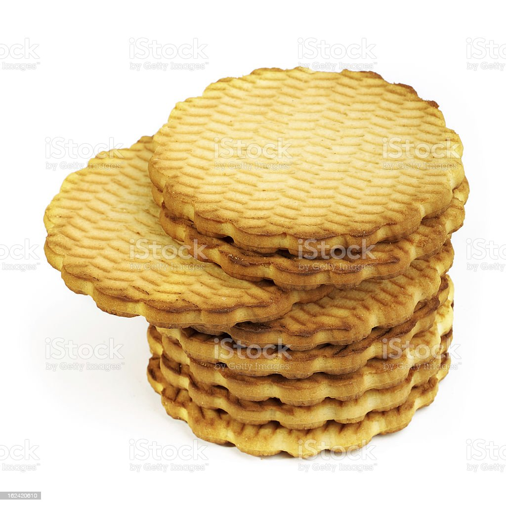 Round cookies royalty-free stock photo