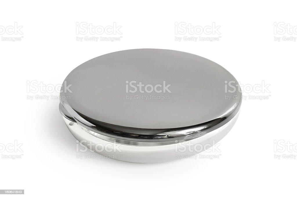 Round cosmetic mirror stock photo