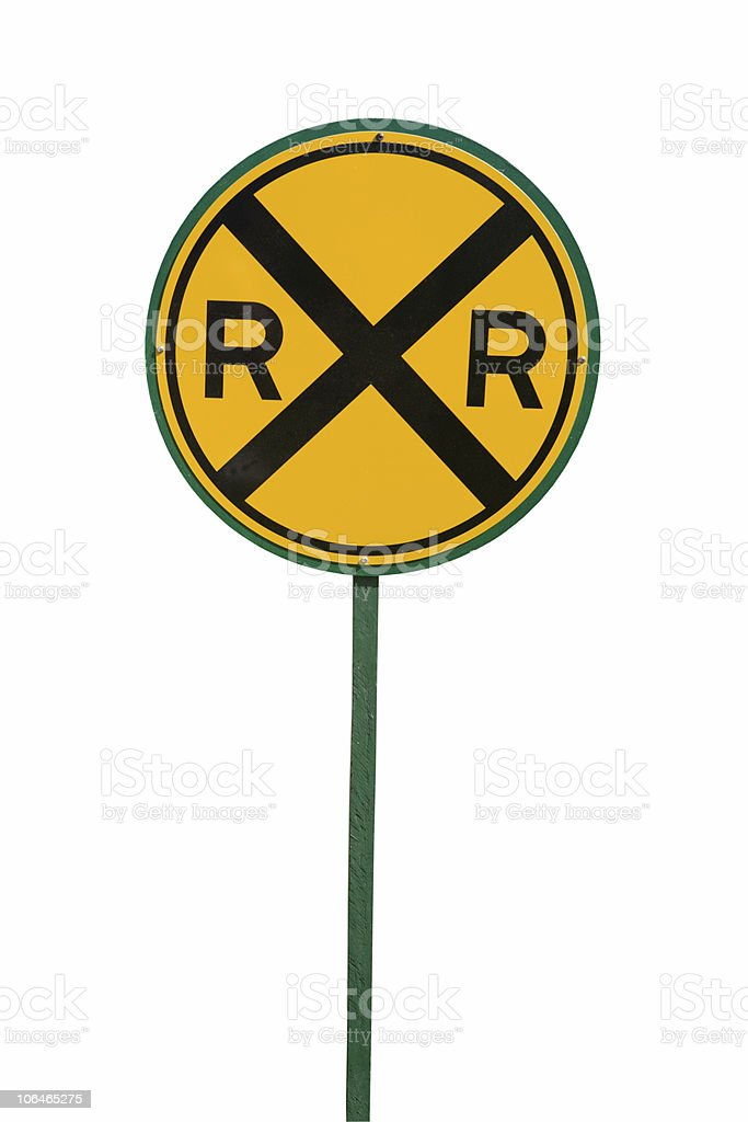 Round Crossing Sign royalty-free stock photo