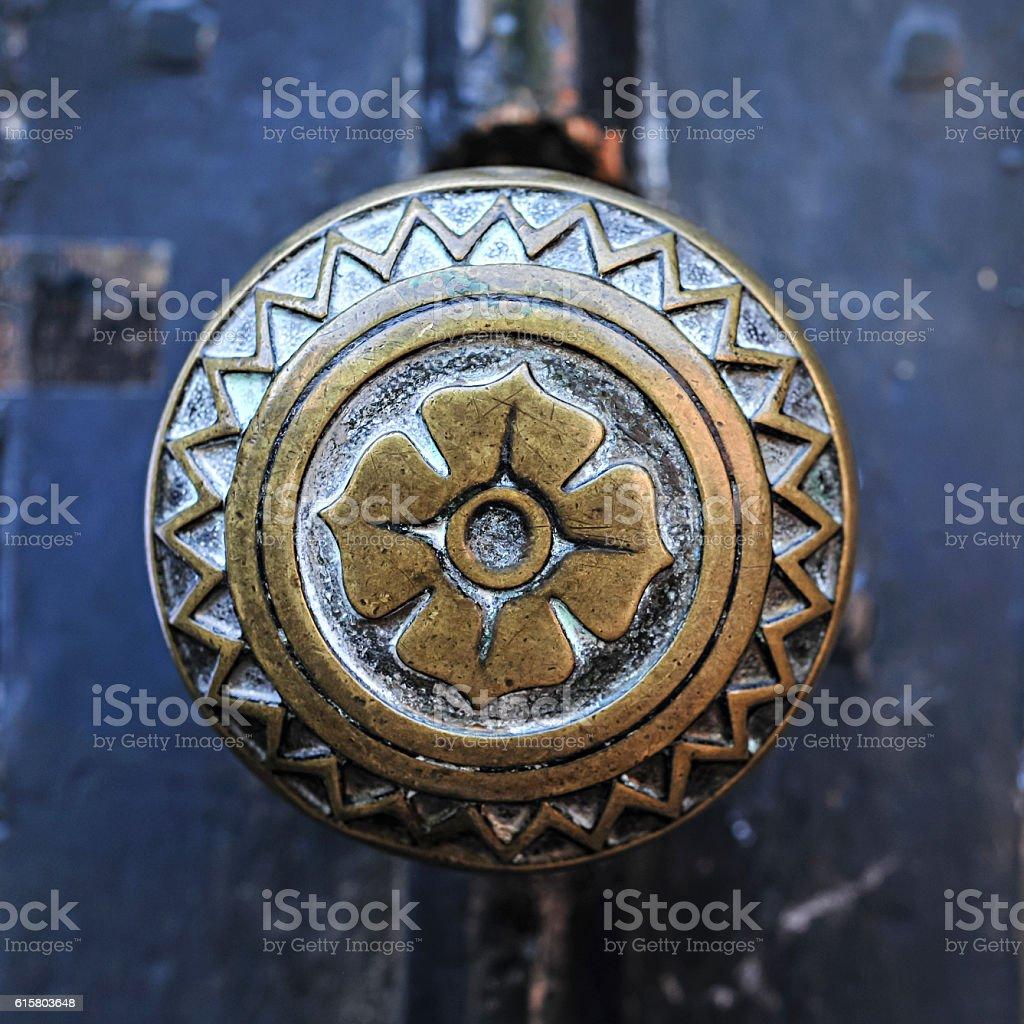 Round door handle stock photo
