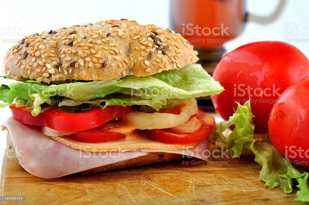Round fresh sandwich royalty-free stock photo