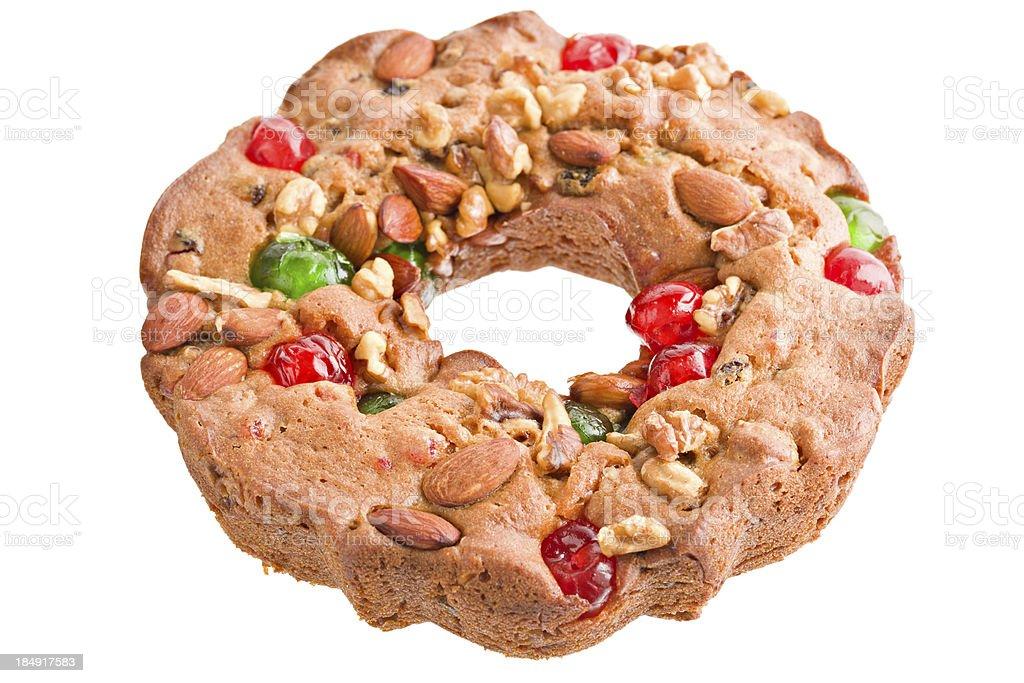 Round Fruitcake royalty-free stock photo