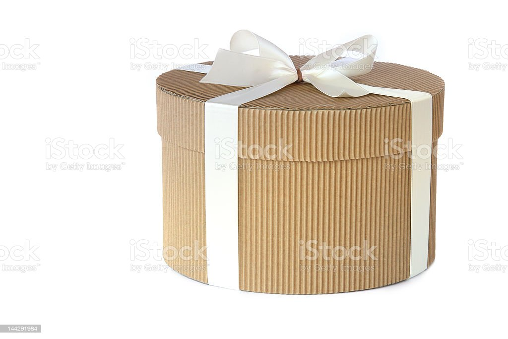 Round gift box royalty-free stock photo
