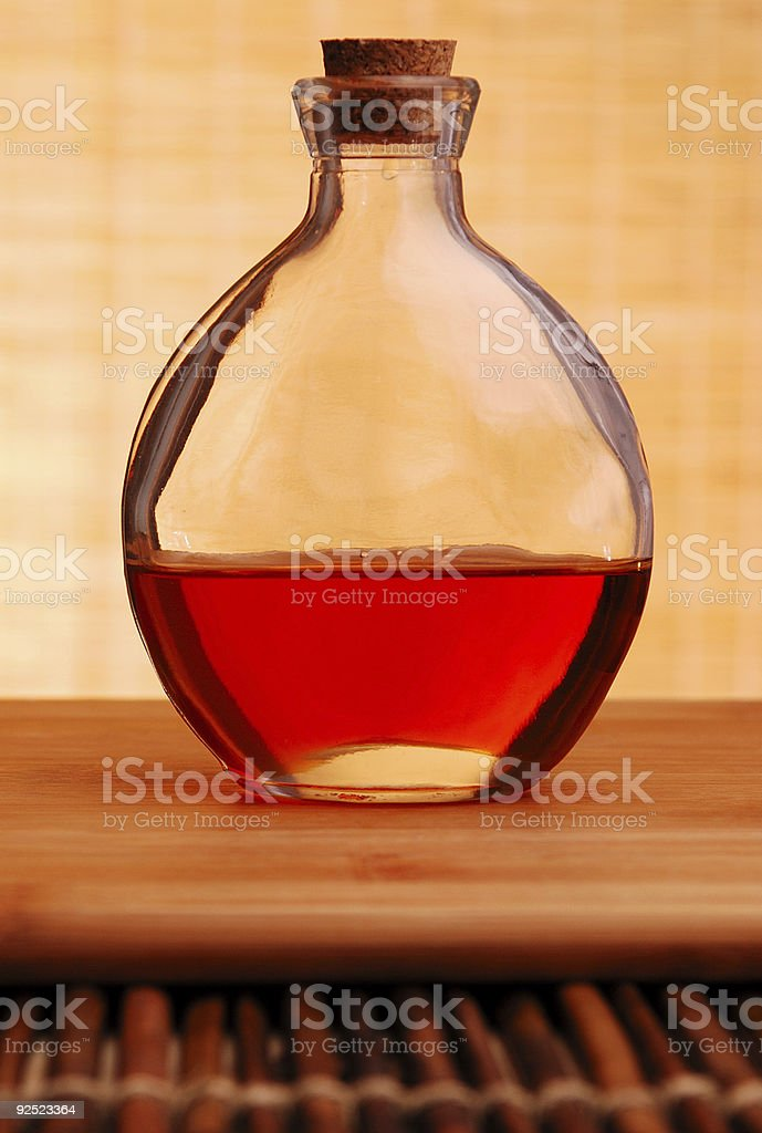 Round Glass bottle royalty-free stock photo