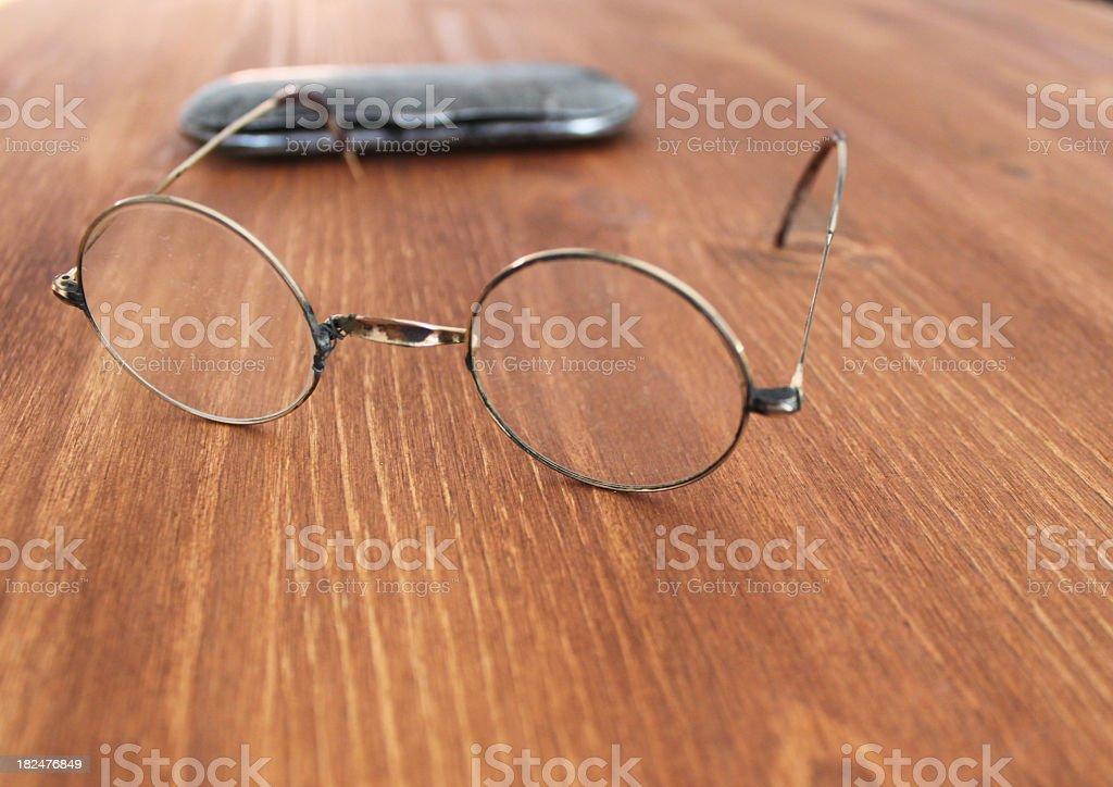 round glasses stock photo