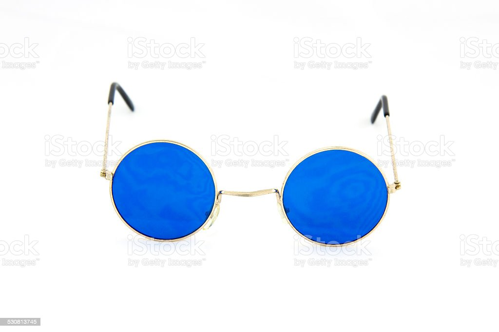 Round glasses spectacles stock photo