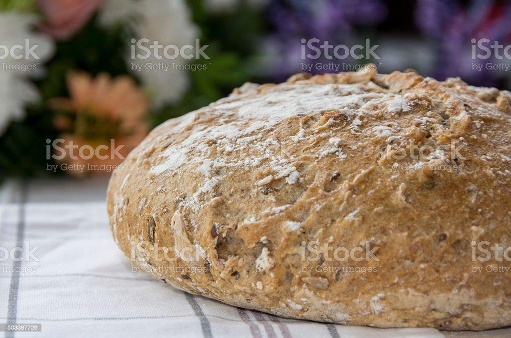 Pan redondo sanos foto de stock libre de derechos