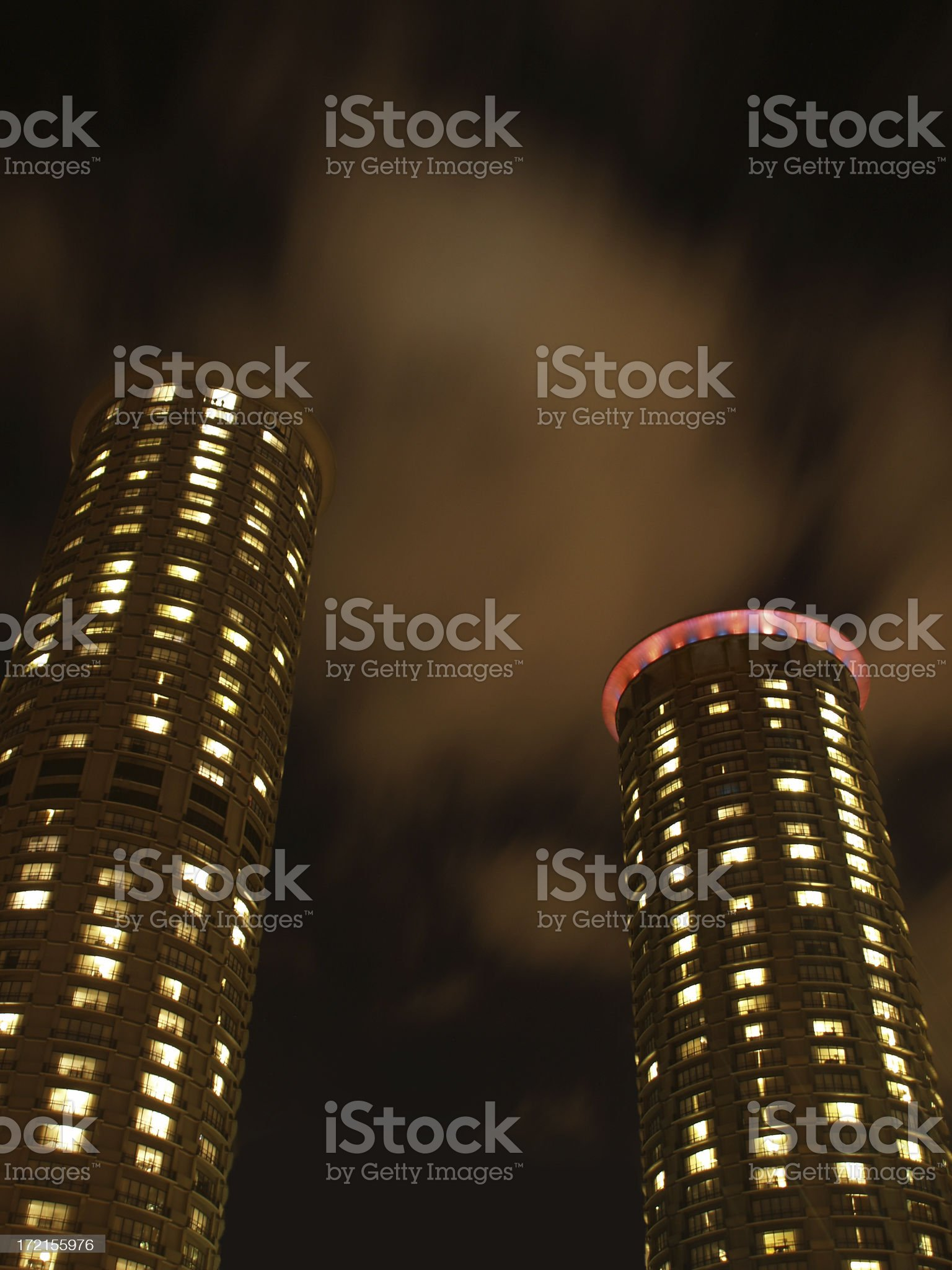 Round Highrisers royalty-free stock photo