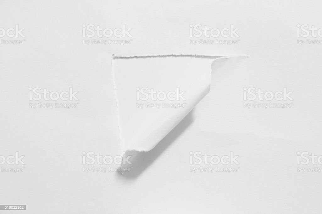 Round hole in paper stock photo
