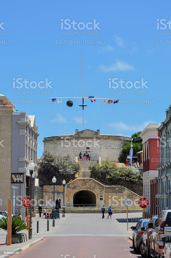 Round House: View from High Street, Fremantle stock photo