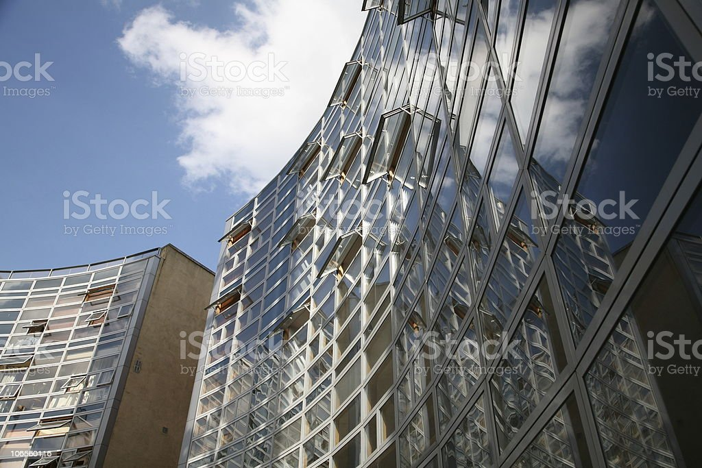 Round Houses in Dublin 1 royalty-free stock photo