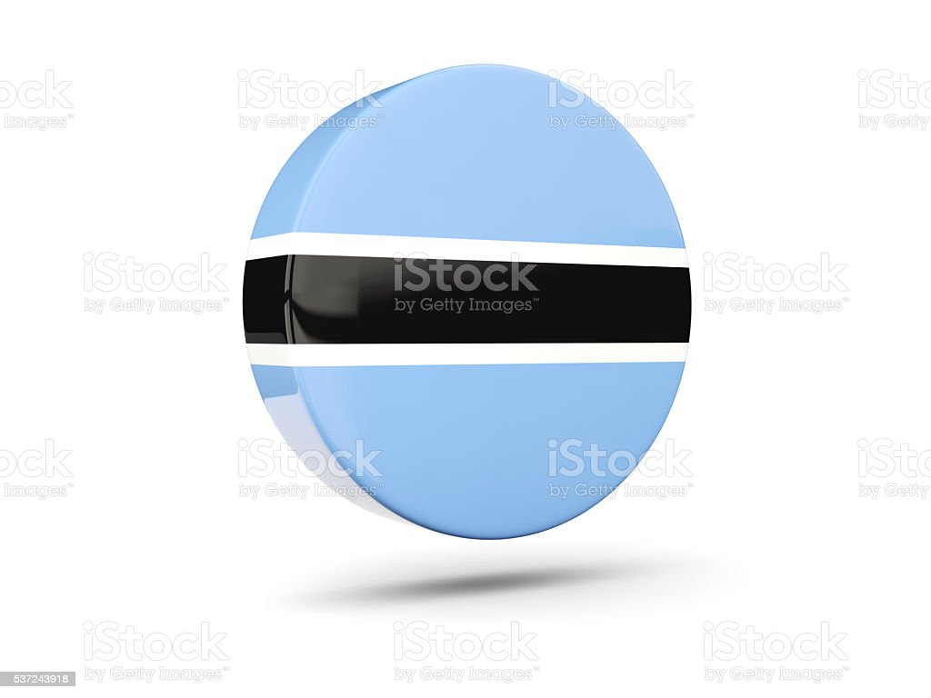 Round icon with flag of botswana stock photo