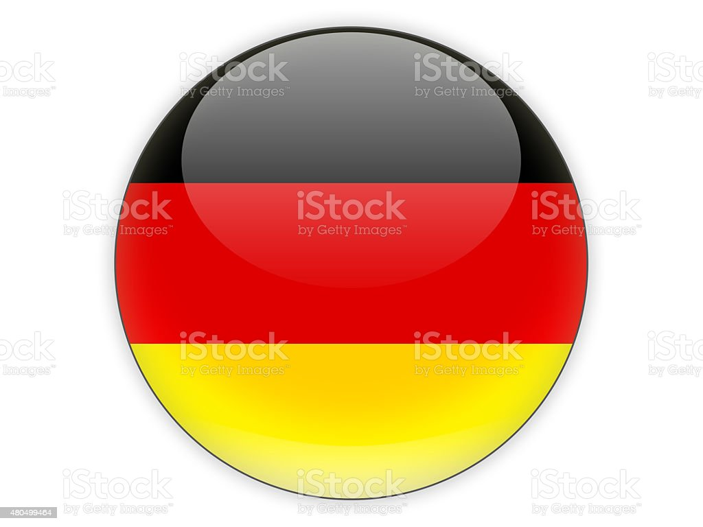 Round icon with flag of germany stock photo
