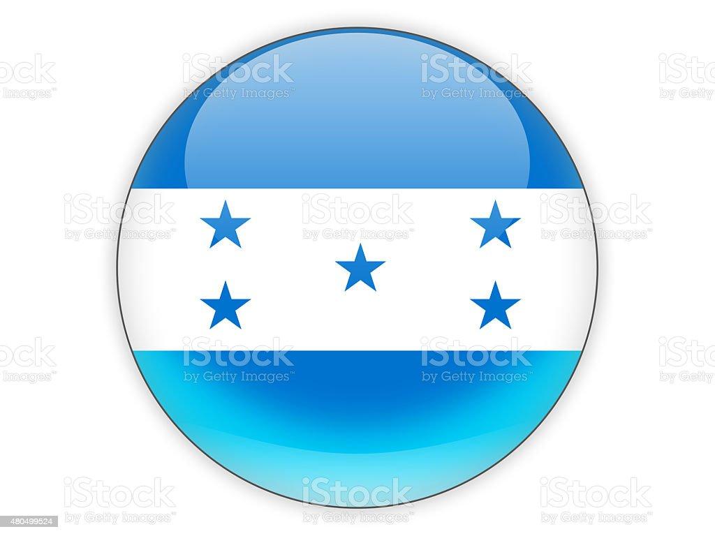 Round icon with flag of honduras stock photo