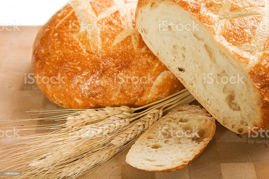 Round Italian Loaf royalty-free stock photo