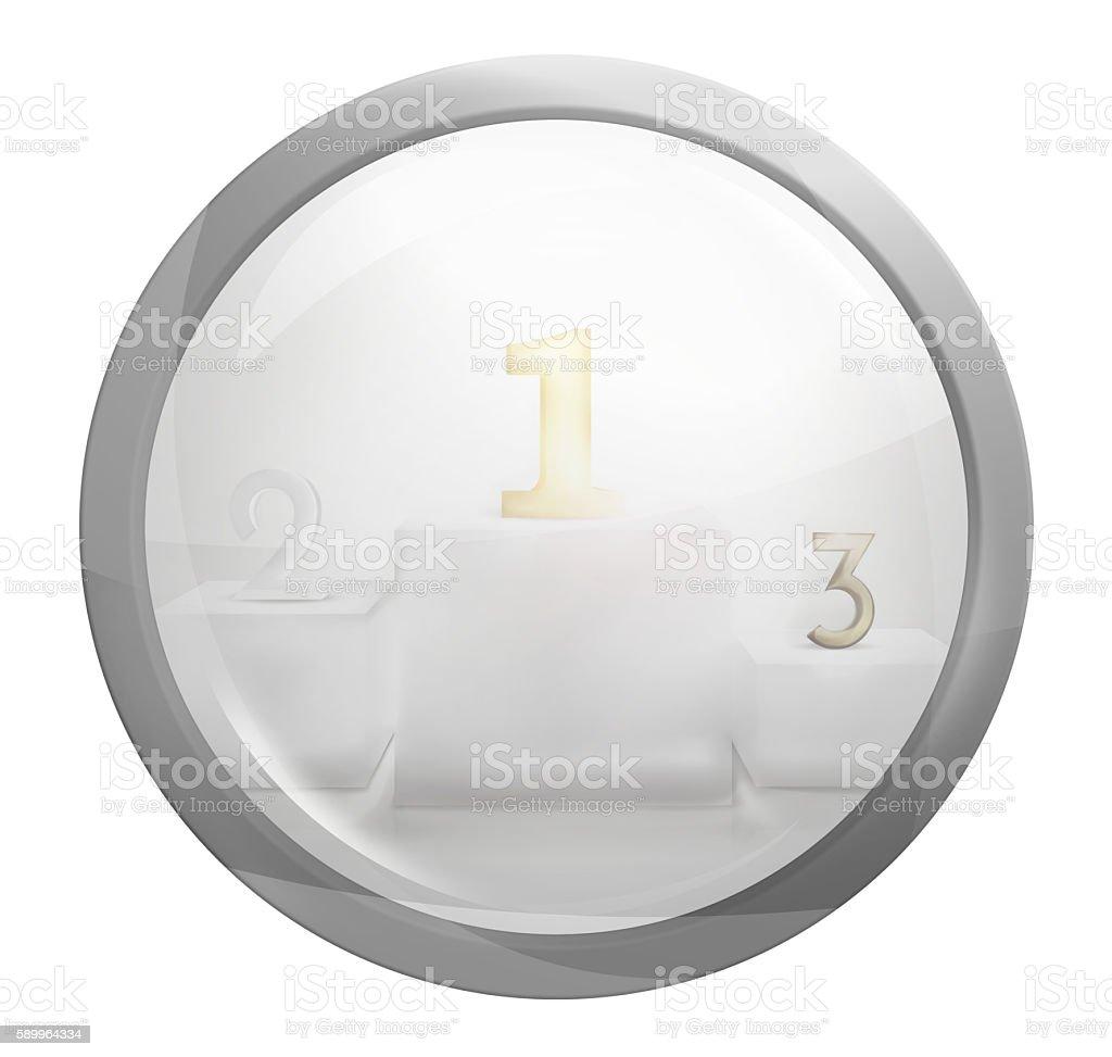 round light glass button icon symbol graphic stock photo