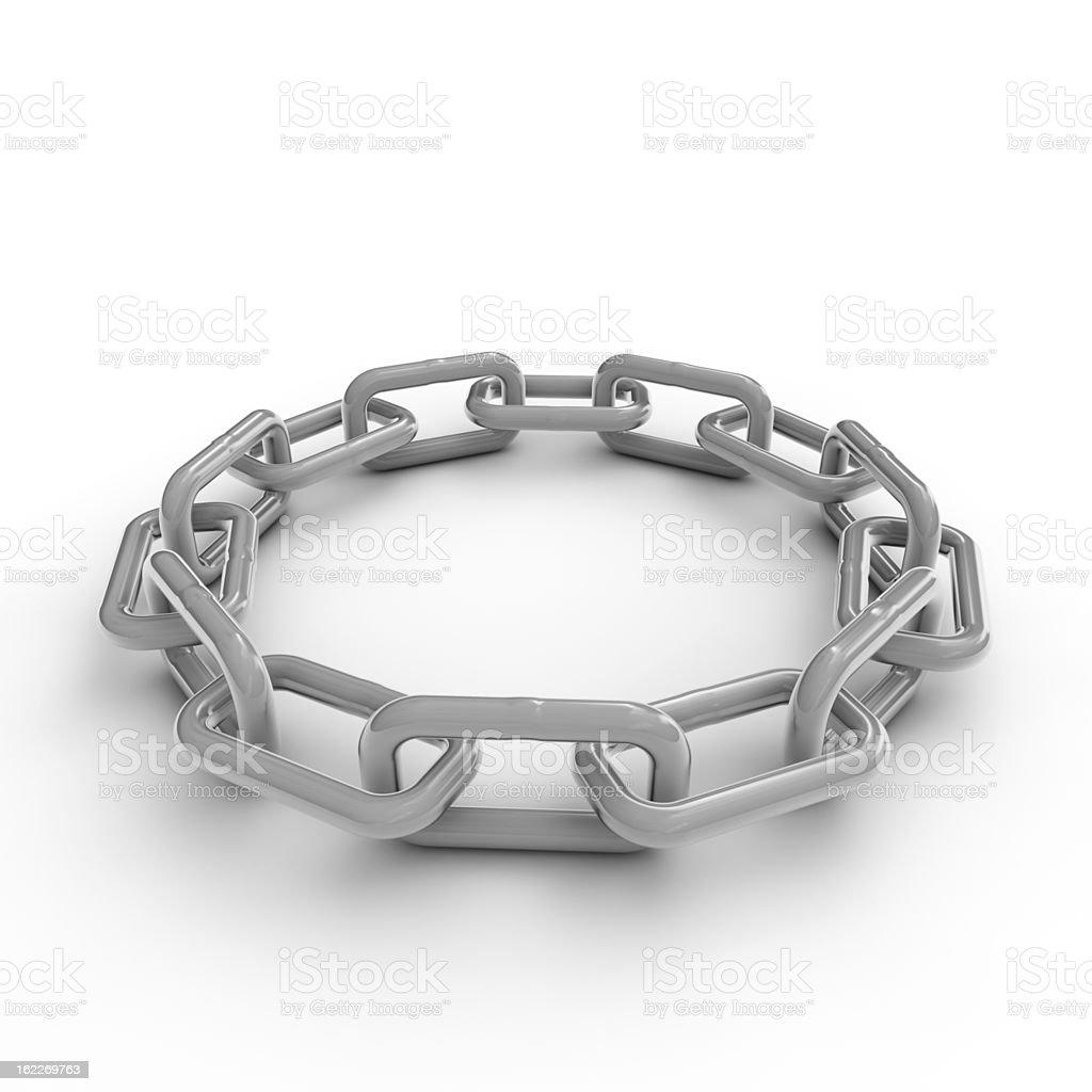 Round linked chain stock photo