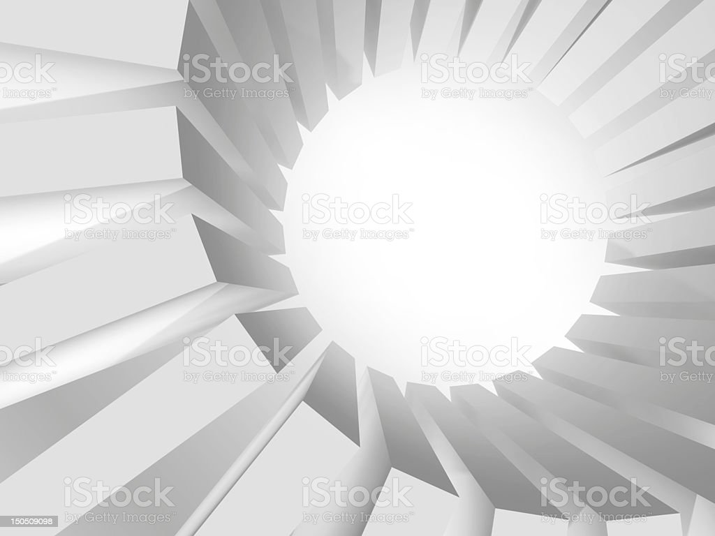 Round massive of boxes with strong illumination royalty-free stock vector art