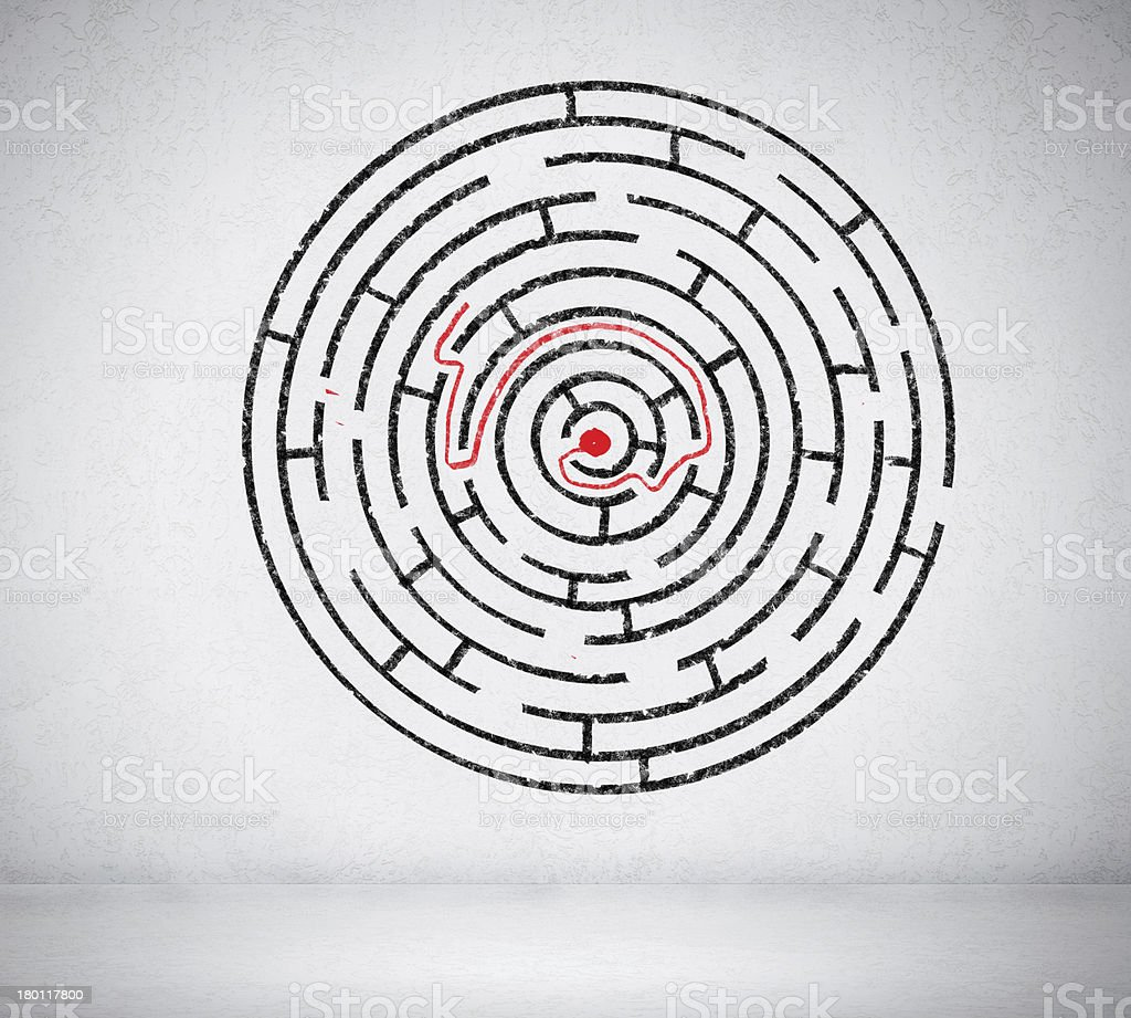 Round maze royalty-free stock photo