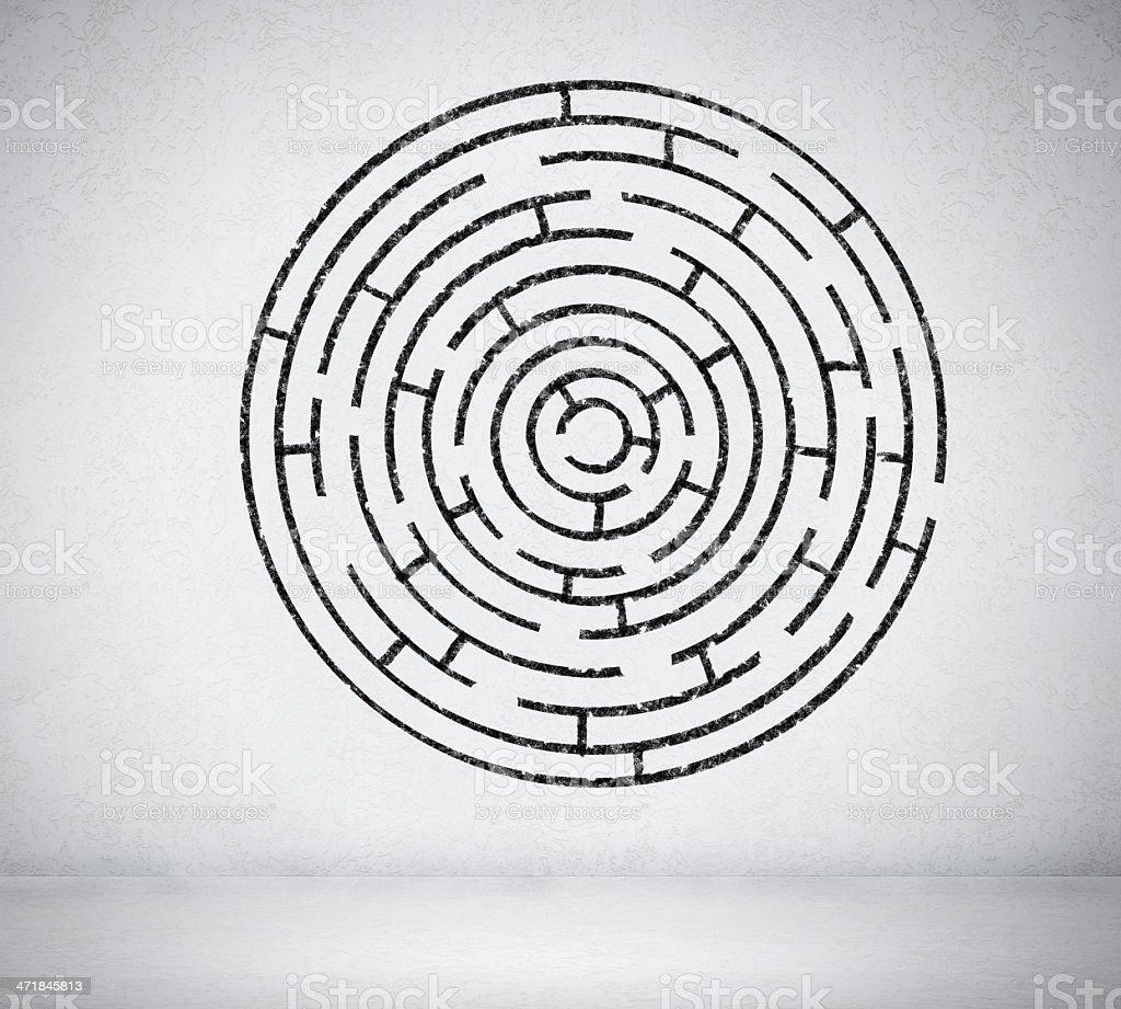 Round maze royalty-free stock photo