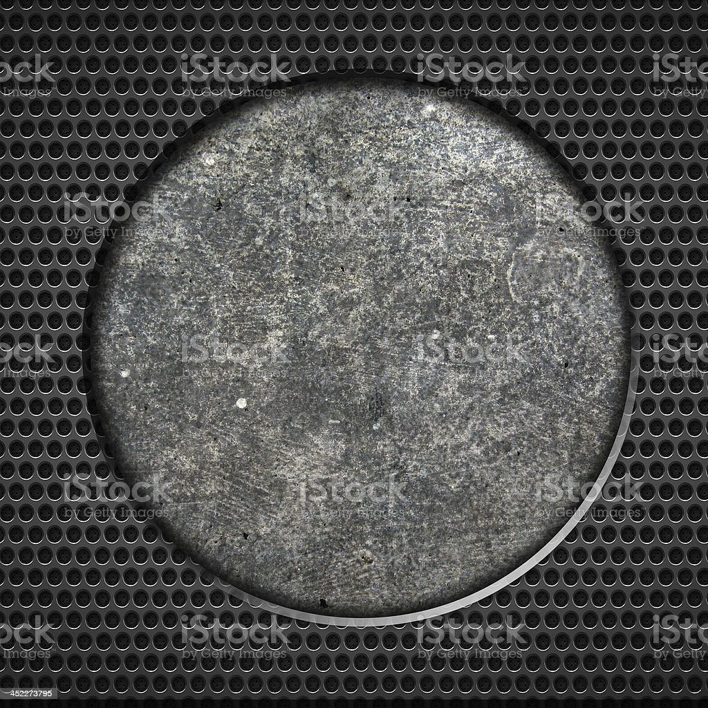 Round metal background stock photo