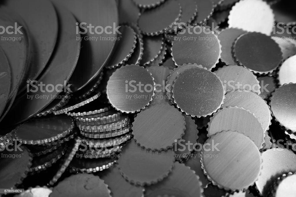 round metal parts stock photo