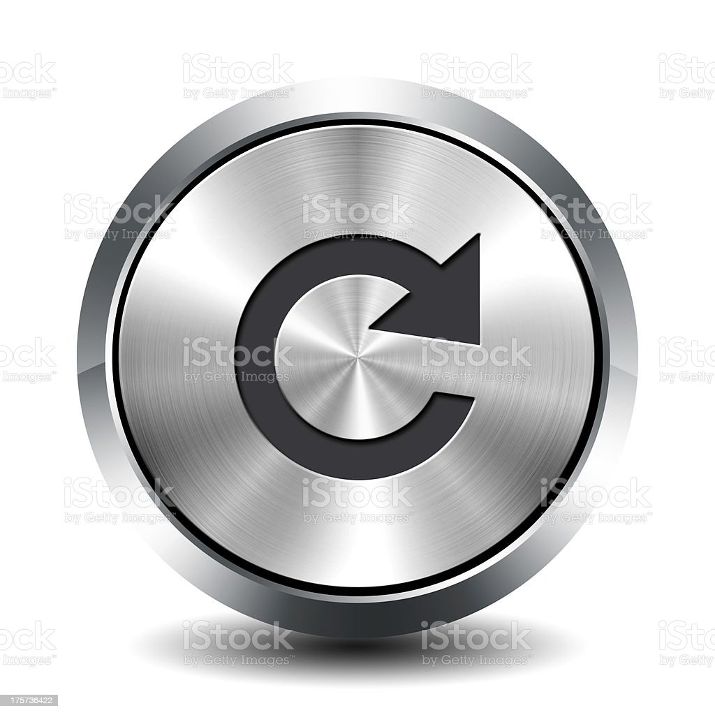 Round metallic button - update stock photo