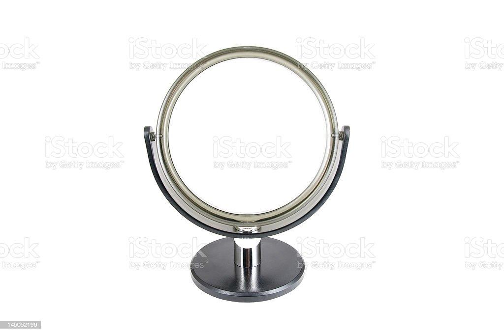 Round mirror stock photo