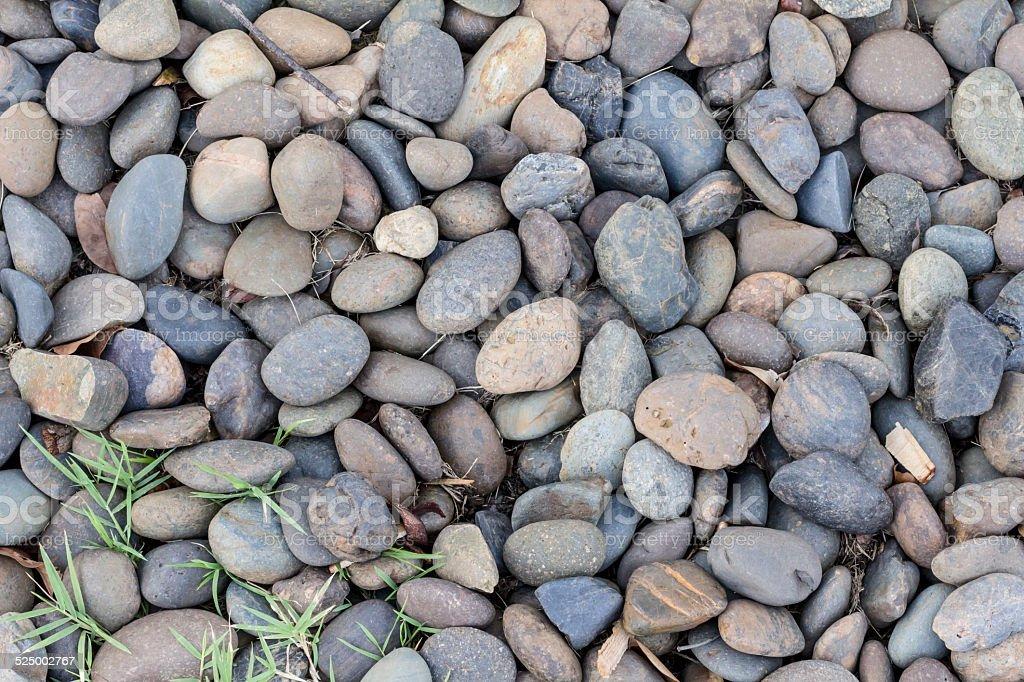 Runde Mischung aus Farbe Steine Hintergrund Lizenzfreies stock-foto