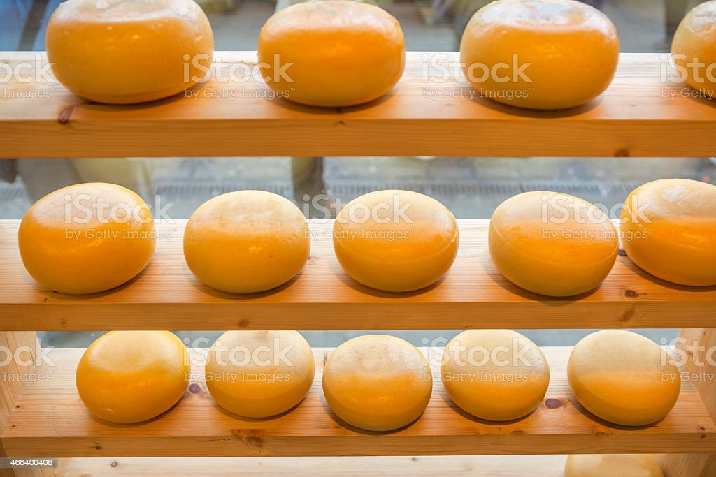round of cheese at amsterdam holland stock photo