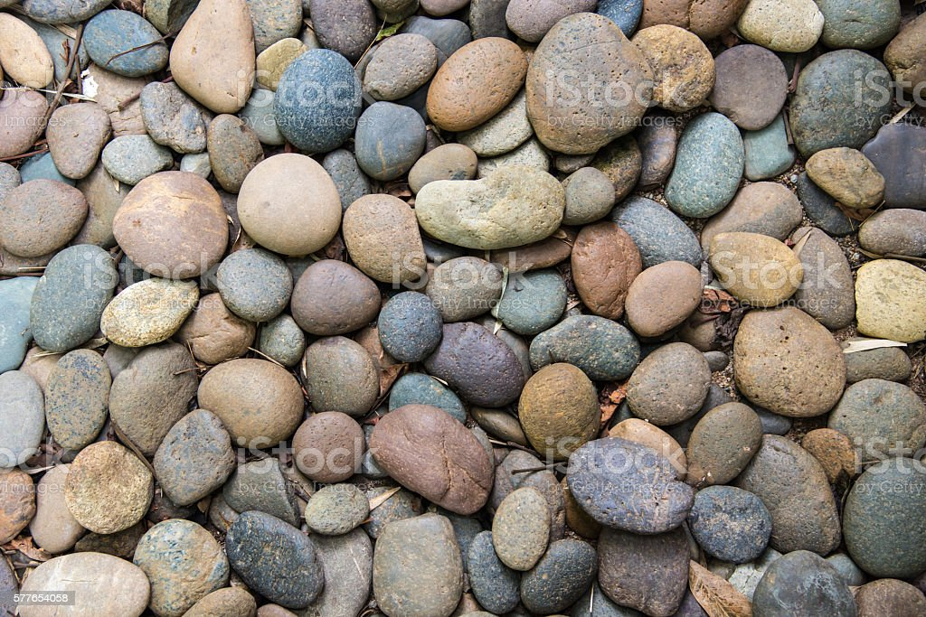 round pebble stones. stock photo