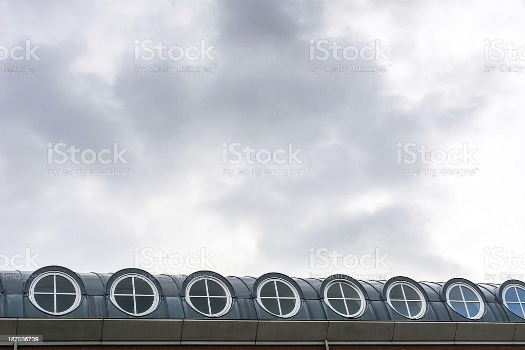 Round Penthouse windows royalty-free stock photo