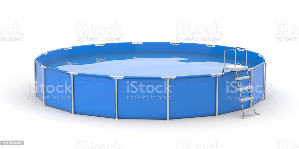 Round pool stock photo