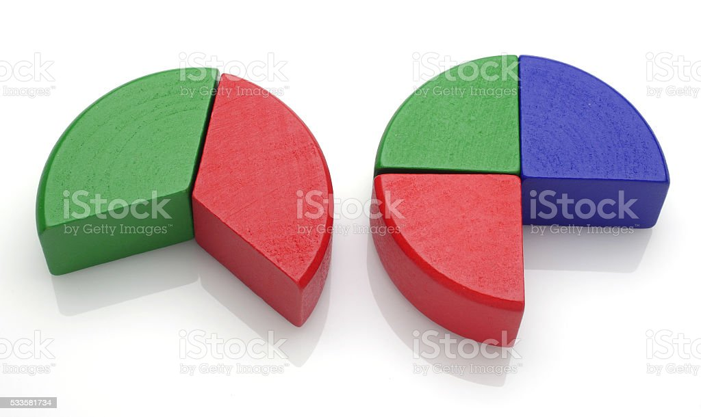 Round puzzle fit stock photo