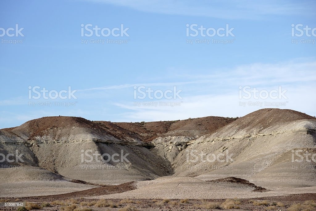 Round Rock Formations in the Mojave stock photo