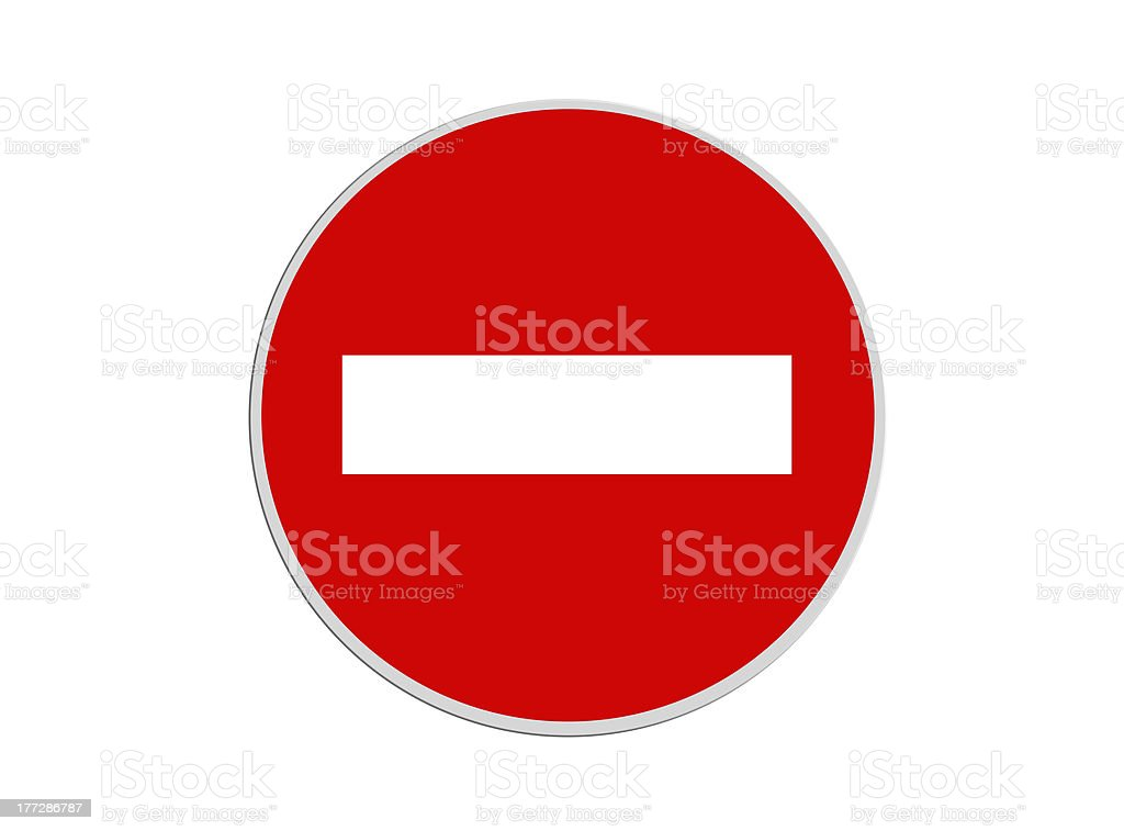 Round sign No Entry stock photo