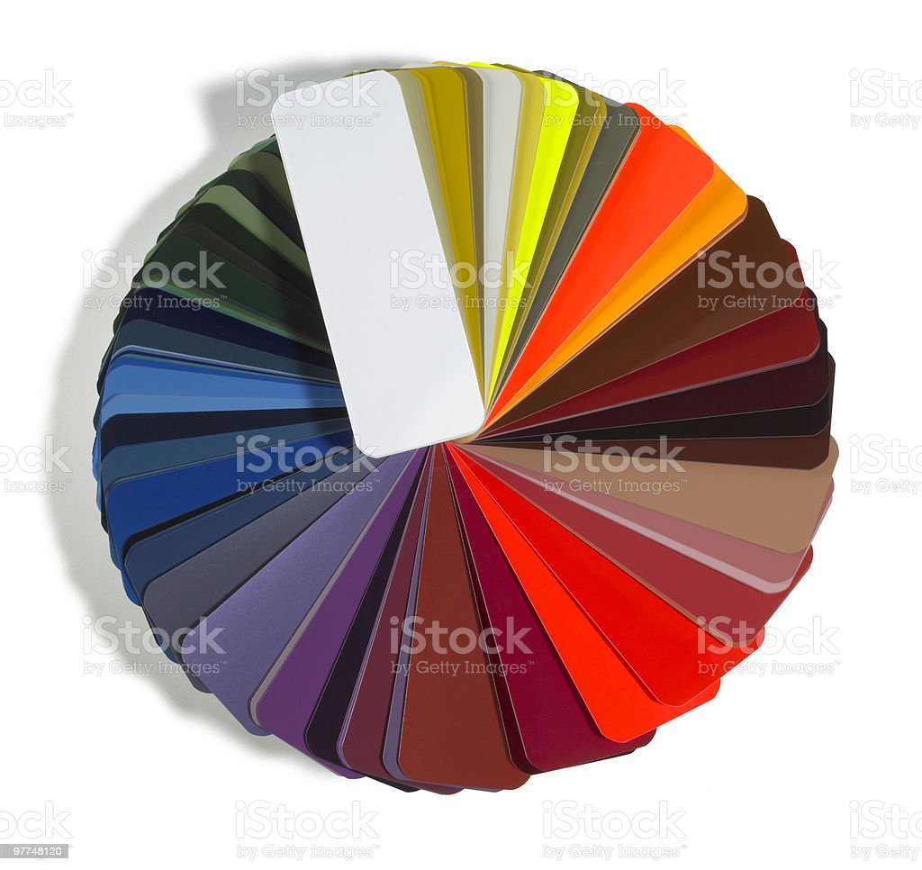 round spread color chart stock photo