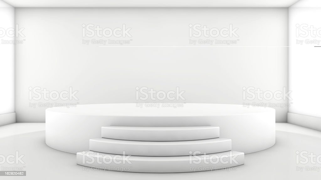 Round stage stock photo