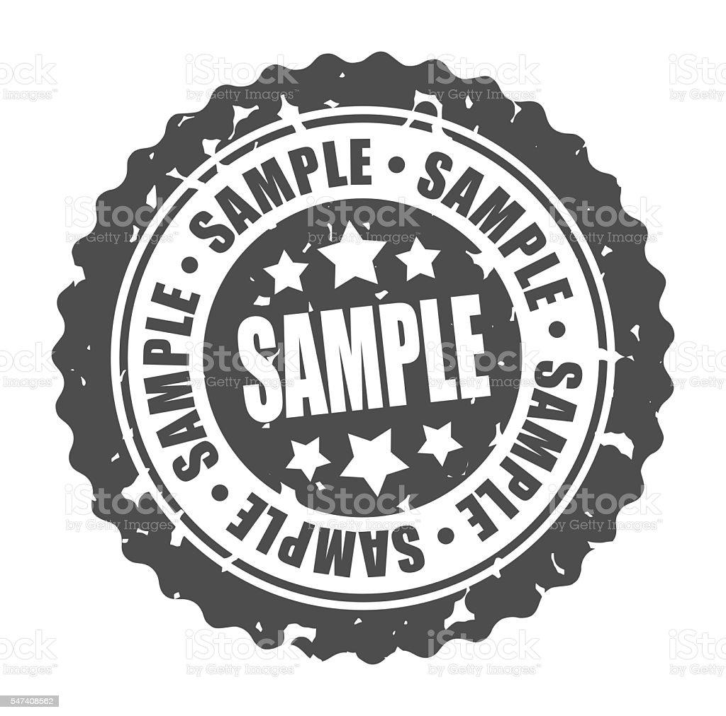 round stamp SAMPLE stock photo