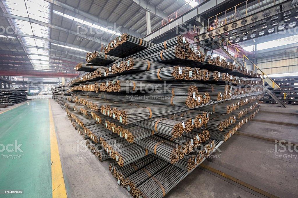 round steel bars royalty-free stock photo