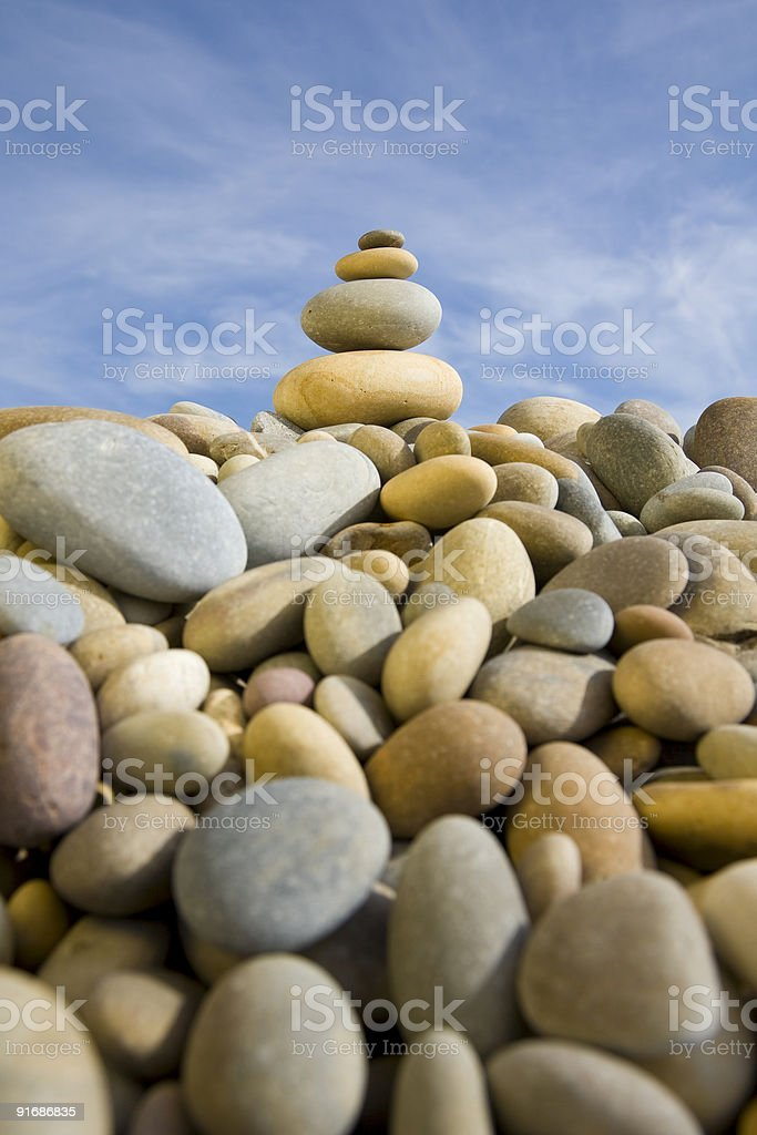 Round stones for meditation royalty-free stock photo