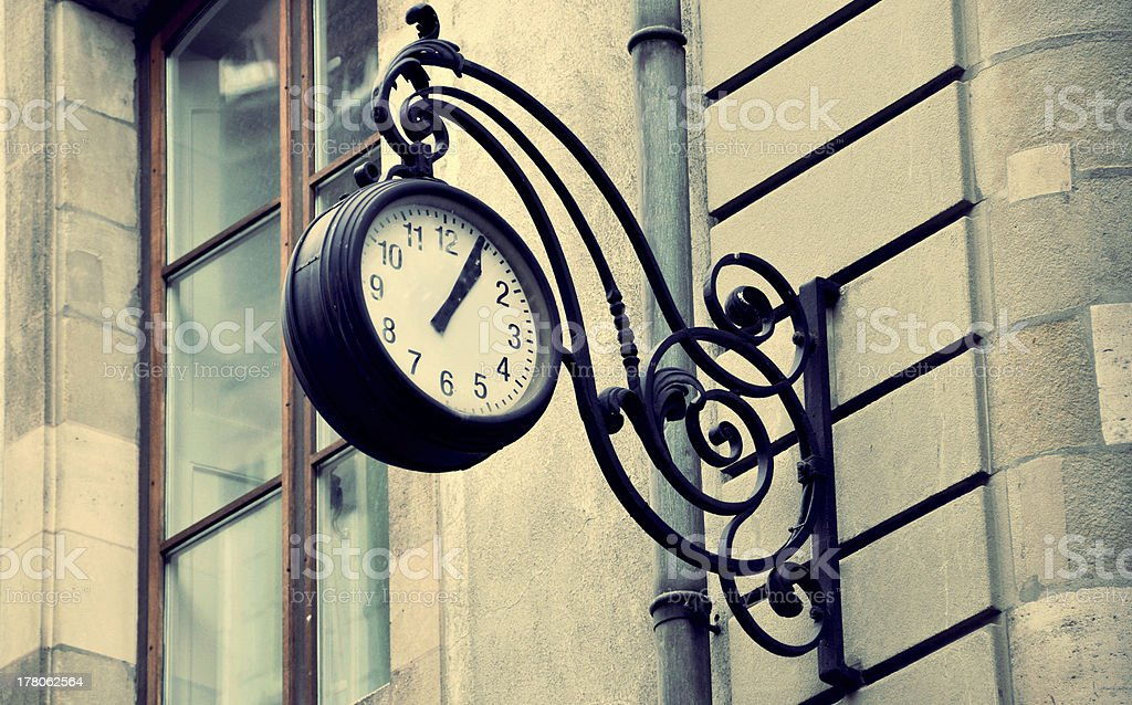 Round Street Watch Hanging On The Wall stock photo