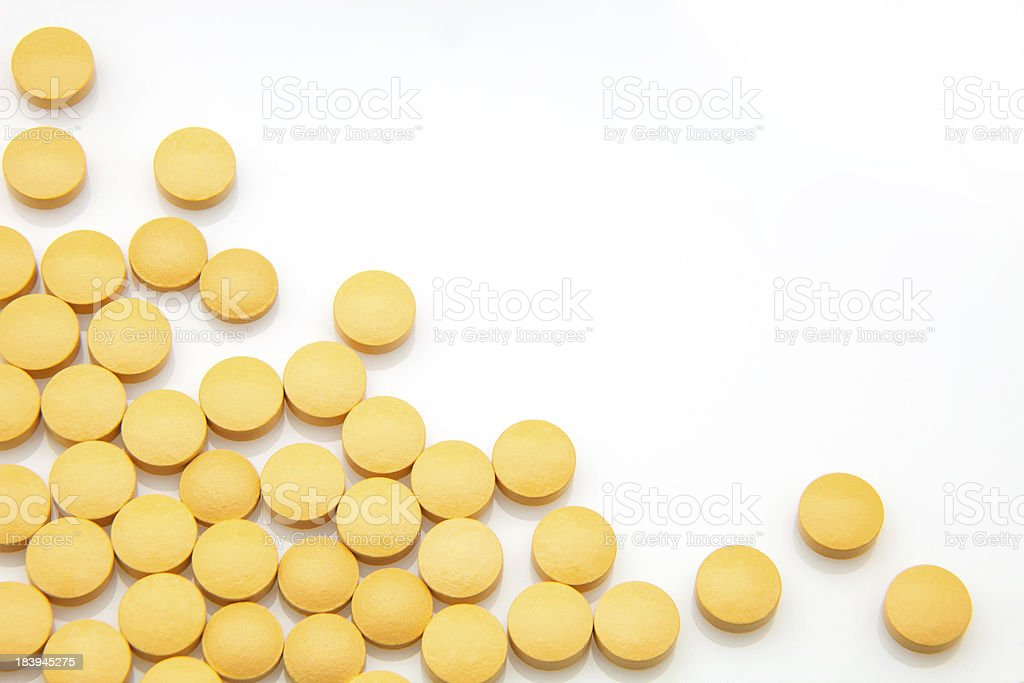 round tablets royalty-free stock photo