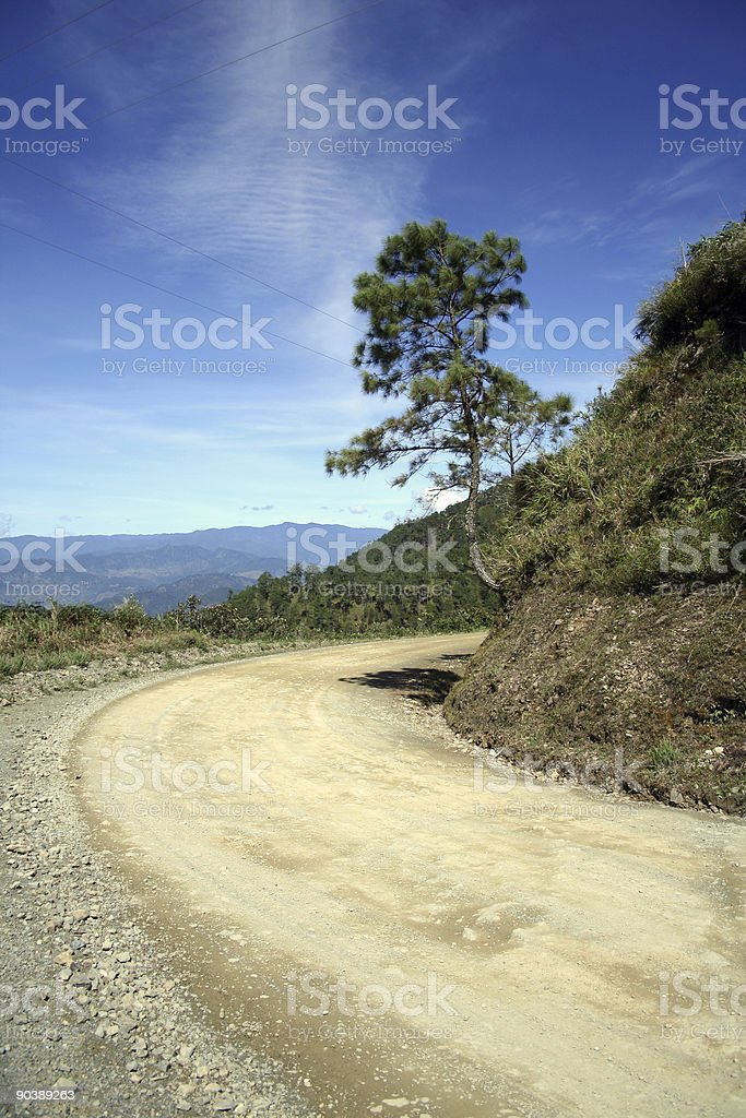 round the bend mountain road royalty-free stock photo
