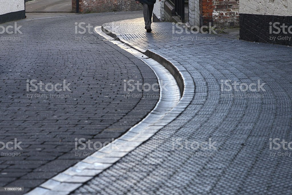 Round the bend royalty-free stock photo