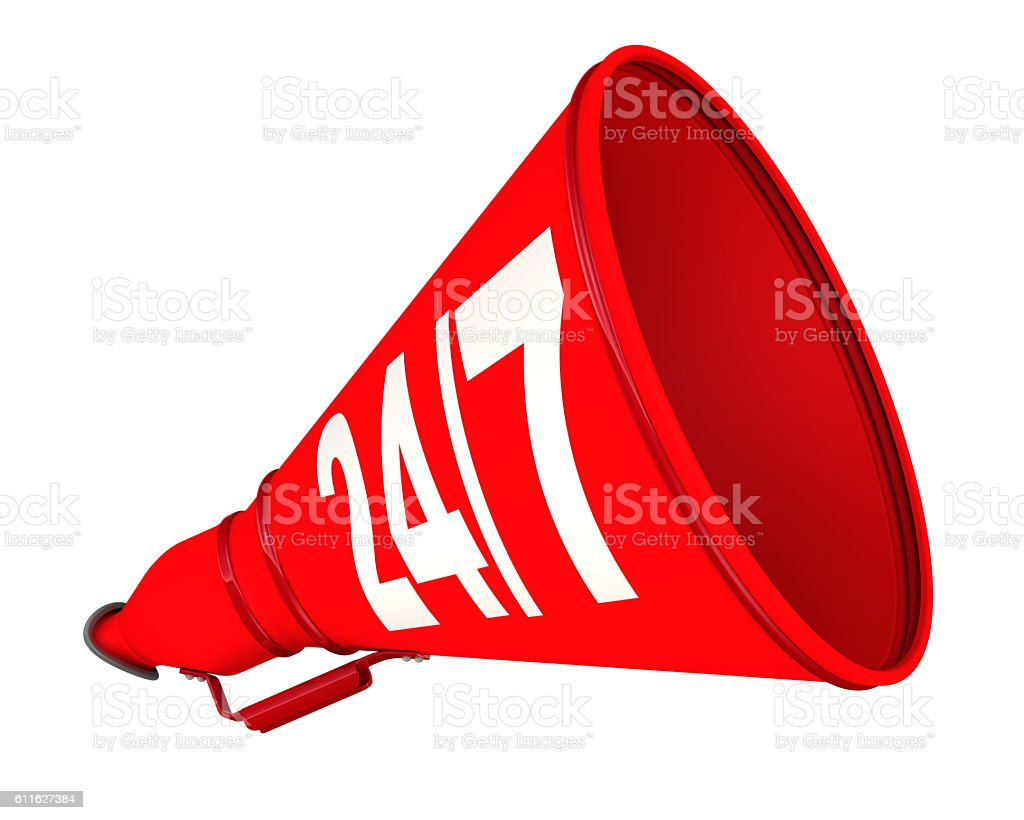Round the clock informational support. The concept stock photo